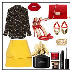 """""""Untitled #74"""" by glamheartcafe ❤ liked on Polyvore featuring Balenciaga, Salvatore Ferragamo, NARS Cosmetics, Lime Crime, Bobbi Brown Cosmetics, Laruicci, SPINELLI KILCOLLIN and Marc Jacobs"""