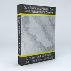 San Francisco Area Road Network and Streets | 3D Model