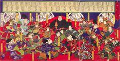 """Nishiki-e"", or multi-colored woodblock print, entitled ""Dai Nihon Meika Zoroe"" Tokugawa Ieyasu, Kuniyoshi, Nihon, Woodblock Print, Japanese Art, Art Museum, Ukiyo, Painting, Samurai Art"
