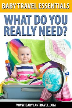 What do you really need for travel with a baby? We'll tell you what items really are baby travel essentials and what you can leave behind! Click to find all the must have baby travel items to pack! Baby Travel, Family Travel, Traveling With Baby, Travel With Kids, Travel Items, Travel Products, First Time Flying, Airplane Activities, Flying With A Baby