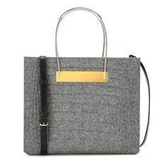 Balenciaga Cable Shopper Small Embossed Wool and Leather Tote ($1,405) ❤ liked on Polyvore featuring bags, handbags, tote bags, grey, grey leather tote, gray leather tote bag, gray leather tote, leather handbags and grey tote