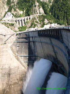 Kurobe Dam in drainage