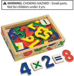 ShopStyle.com: Melissa and Doug Kids Toy, Magnetic Wooden Numbers $11.99