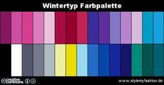 Infografik: Farbpalette Farben Wintertyp   Style my Fashion
