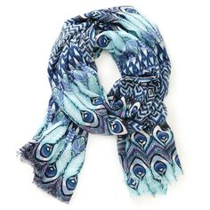 Sole Society peacock print scarf and other apparel, accessories and trends. Browse and shop 7 related looks. Cool Outfits, Fashion Outfits, Womens Fashion, Fashion Ideas, Fashion Fashion, Peacock Print, Peacock Blue, Cute Scarfs, Passion For Fashion