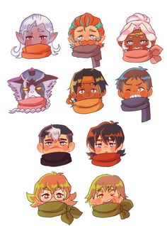 Everybody's super cute! (Especially Hunk, but I guess I biased. )