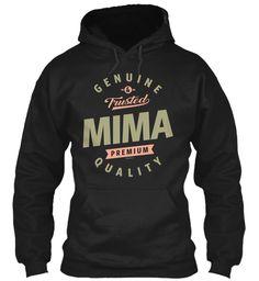 Genuine Mima Black Sweatshirt Front