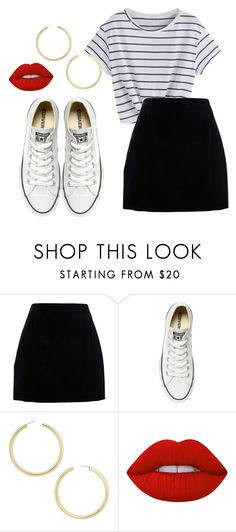"""Untitled #36"" by vaninani on Polyvore featuring Converse, BaubleBar and Lime Crime"