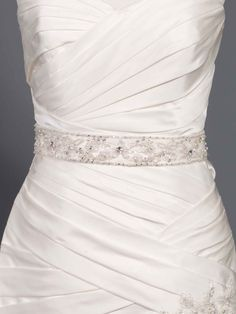 Glamorous long belt with beading style 0a00059