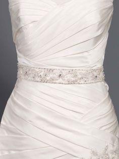 Glamorous long belt with beading style