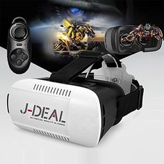 Findbest Virtual Reality VR Headset Video Movie Game Glasses For inch Smartphones iPhone 6 plus Samsung Galaxy Edge Note LG HTC Nexus, adjustable Focal Distance Pupil Distance >>> More info could be found at the image url. Virtual Reality Glasses, Virtual Reality Headset, Side By Side Video, 3d Vr Box, Focal Distance, Bluetooth, Electronic Gift Cards, 3d Video, Vr Games