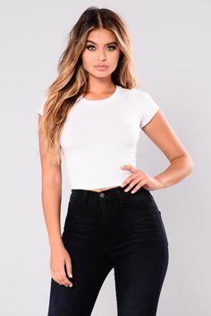 afdb2af388560 Jaclyn Crop Top - White White Crop Top Outfit