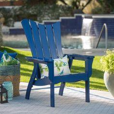 Belham Living Ocean Wave Adirondack Chair - Cobalt, Pu Cobalt