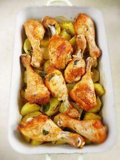Sio-smutki: Kurczak pieczony na ziemniakach (jednogarnkowe)
