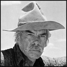 "Lee Marvin as Monte Walsh,in the 1970 movie 'Monte Walsh'.  An aging cowboy facing the final days of the Wild West era - he and his friend Chet Rollins (Jack Palance), another long-time cowhand, work at whatever ranch work comes their way, but ""nothing they can't do from a horse""."