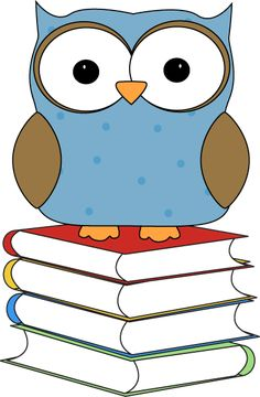 Polka Dot Owl Sitting on Books