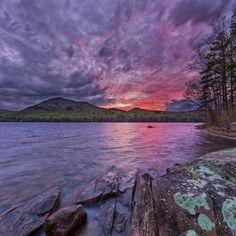 Sunset while camping the the Adirondacks