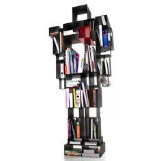 Libreria Robox in Metallo verniciato grigio