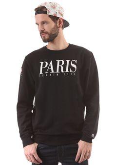 #planetsports CAYLER & SONS - Paris Crewneck Sweat black/white/floral white