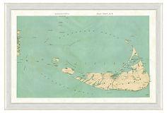 Nantucket Map on OneKingsLane.com
