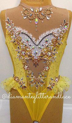 Diamante, Glitter & Lace: Leotard design blog | Mellow Yellow