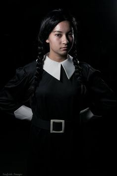 Wednesday Addams Cosplay by Trinity All-Stars - photo by © Surfside images