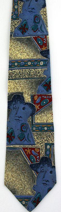 Picasso Mens Necktie 2oth Century Spanish Artist Cubism Art Gift Silk Tie New H #MBI #NeckTie