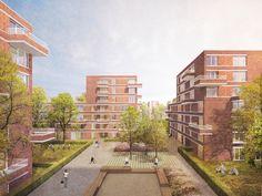 Quartiersmitte Fischbeker-Heidbrook 1. Rang: © Visualisierung A.Calitz Visual