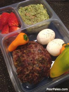 Paleo Lunch Box ideas! Great for work, trips and more! Come check out our collection of Paleo and Primal lunch ideas for adults!