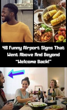 """48 Funny Airport Signs That Went Above And Beyond """"Welcome Back! Funny Airport Signs, Airport Welcome Signs, Prom Photos, April 3, Above And Beyond, Creative Products, Air Travel, Billboard, Congratulations"""