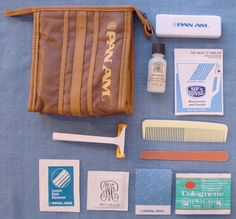 Passenger Inflight Toiletries Set In Zip Bag New Unused Durable Service Faithful Aeroflot