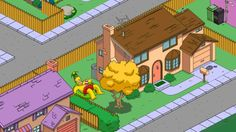 Homero holgazaneando en la alberca