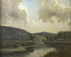 "James Humbert Craig, RHA RUA (1877-1944)    ""Donegal River Landscape"",  Oil on canvas, 46 x 56cm, (18 x 22'')"