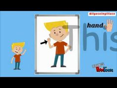 PARTS OF THE BODY video for kids learning English