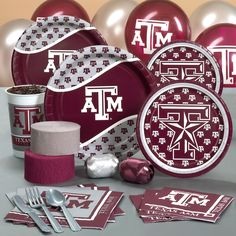 aggie paper goods for tailgate party