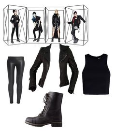 """""""2NE1"""" by k-pop21 ❤ liked on Polyvore featuring Balenciaga, The Row, Charlotte Russe and T By Alexander Wang"""