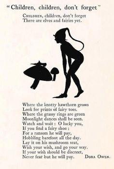 Children Children Don't Forget A Poem by Dora Owen