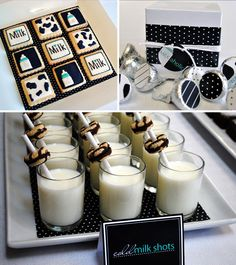 This is a MILKaholic baby shower theme! I wish I knew someone to throw any kind of milk party Baby Shower Fun, Shower Party, Baby Shower Parties, Baby Shower Themes, Baby Showers, Shower Ideas, Sip And See, Milk Cookies, Baby Cookies