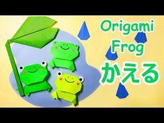 梅雨の折り紙 かえるの折り方音声解説付☆Origami Frog tutorial - YouTube