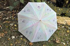 Items similar to Wedding accessories -Wedding fans - Wedding ideas - Bridal fashion -Cyclamens on Etsy Umbrella Painting, Brollies, Umbrellas Parasols, Lilac, Purple, When It Rains, Growing Flowers, Butterfly, Trending Outfits