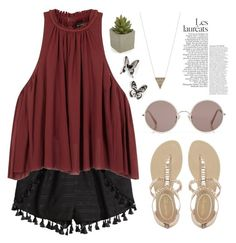 """""""outfit #61"""" by pachnach ❤ liked on Polyvore featuring H&M, Isabel Marant, NYLO, Sunday Somewhere, House of Harlow 1960, Crate and Barrel and Umbra"""