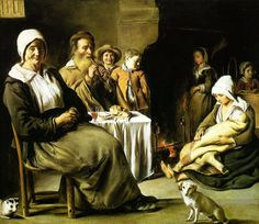 TICMUSart: The Family Meal - Le Nain brothers (1642) (I.M.)
