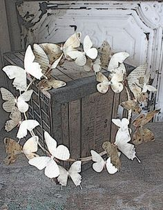 Butterfly wreath, new ideas for decor for the outside of your home...