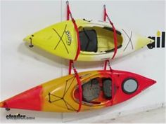 Kayak Accessories Diy Malone SlingTwo Kayak Storage System - Wall or Ceiling Mount - 2 Kayaks Malone Watersport Carriers Kayaks, Diy Kayak Storage, Kayak Parts, Kayak Fishing Accessories, Kayak Equipment, Kayaking Tips, Kayak Rack, Pontoon Boat, Boat Plans