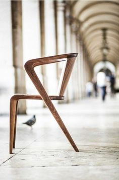 Naturholz Massivholz Massivmöbel Design Stuhl Idee