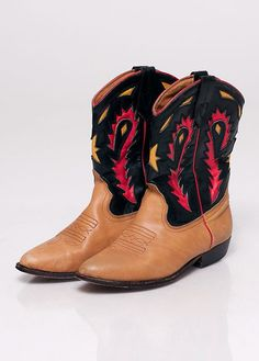 Rare Western Seychelle Cowboy Boots 75 by rumors on Etsy, $68.00