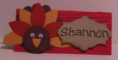 Thanksgiving Place Card by woodknot - Cards and Paper Crafts at Splitcoaststampers