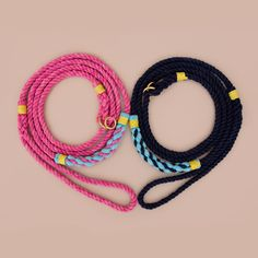 Knotting but love! Handmade rope leashes by Lasso. Cruiser styles for the mini breeds.!