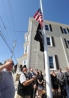 Fall River Mayor Will Flanagan and other city officials were on hand Friday at the dedication of a six-unit property on Eastern Avenue that will provide veterans housing.
