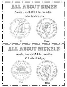 This is a mini booklet which will allow students to recognize the different Canadian Coins. Simple worksheet that students will like.